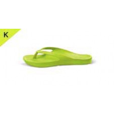 Kids Orthotic Thongs Lime Green